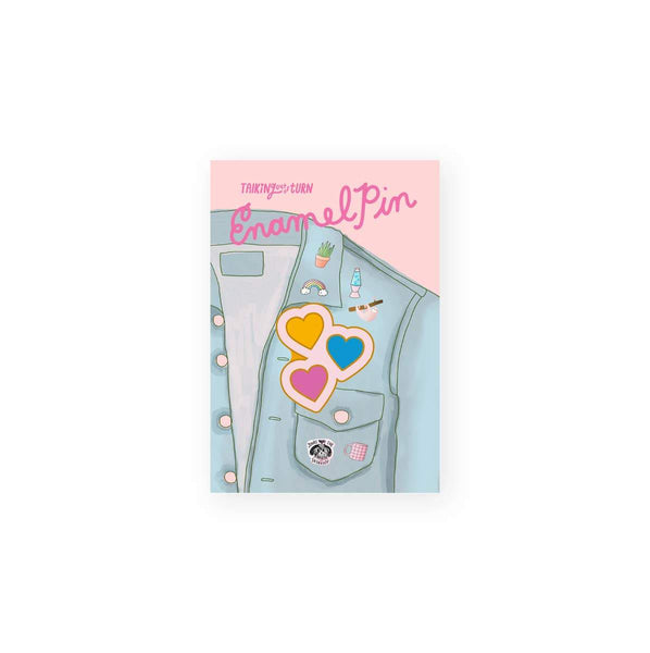 Hearts Enamel Pin by Talking Out of Turn - COMMON DEAR