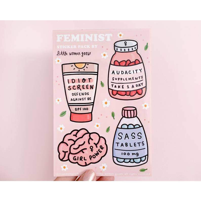 Feminist Sticker Sheet by Little Woman Goods - COMMON DEAR