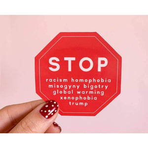 Stop Vinyl Sticker by Little Woman Goods - COMMON DEAR