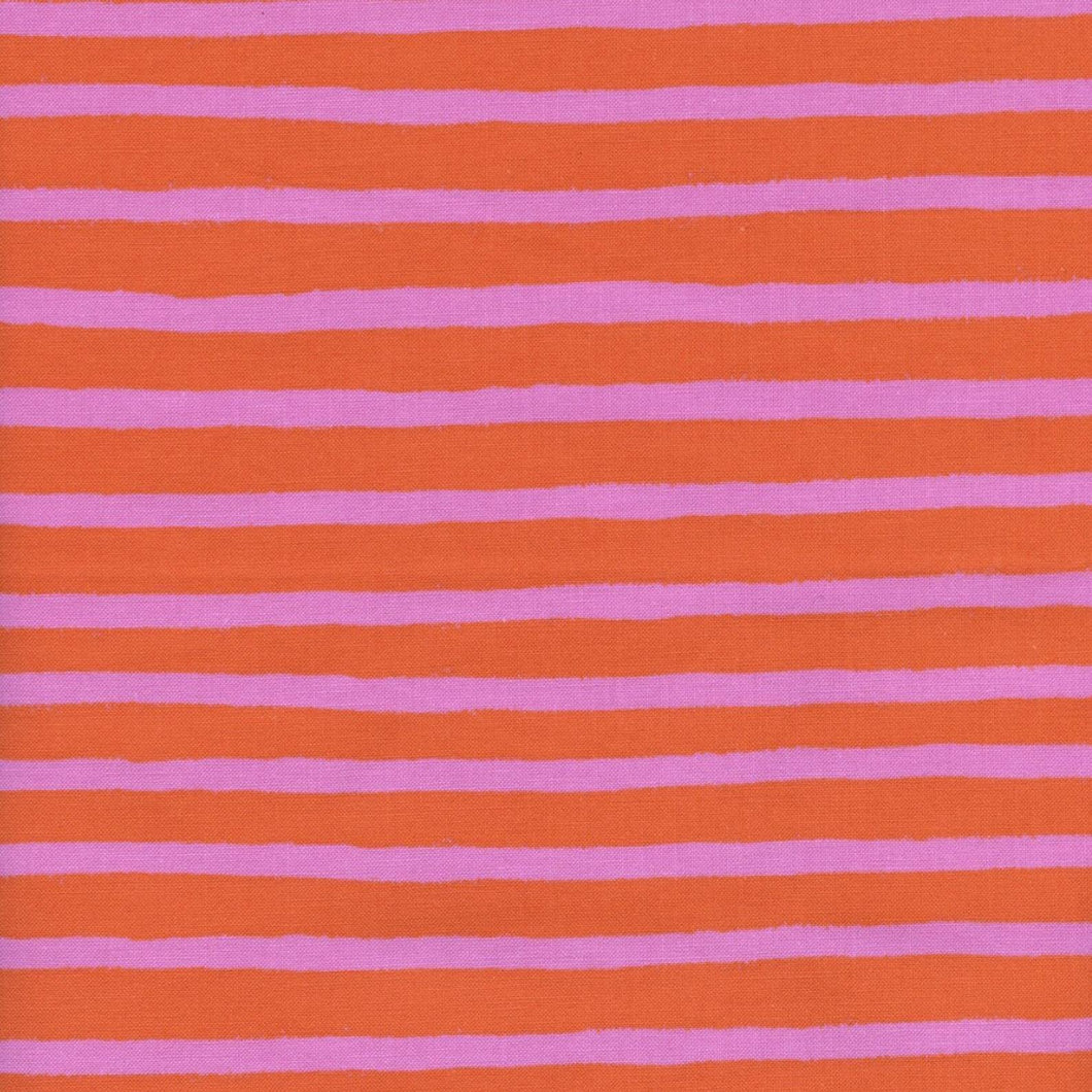 Made To Order - Pink and Orange Stripes Cotton Face Mask - Common Dear