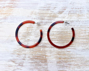 Tortoise Circle Hoop Earrings by NAT + NOOR - COMMON DEAR