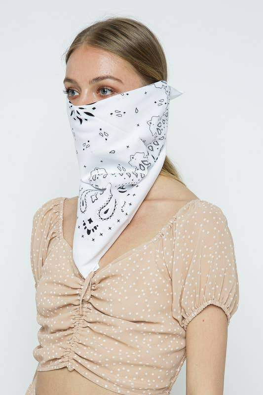 White Bandana by Leto Accessories - COMMON DEAR