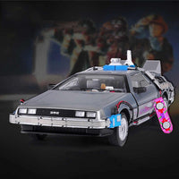 Back to the Future Delorean - 1:18 Scale Fine Collection Edition - HobbieSir