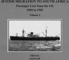 JEWISH MIGRATION TO SOUTH AFRICA, passenger lists from the UK, 1890 to 1905, 1906 to 1930