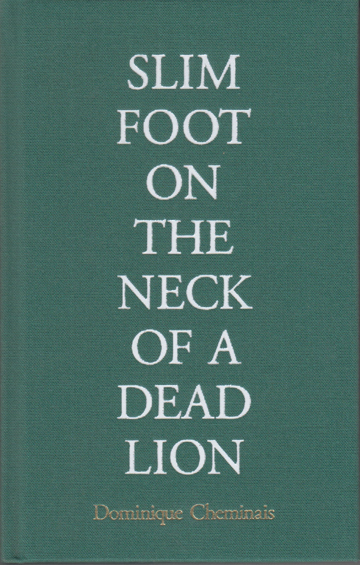 SLIM FOOT ON THE NECK OF A DEAD LION