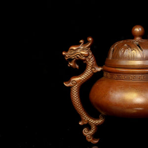 Antique Three Dragon Foot Copper Incense Burner 仿古三龙足铜炉