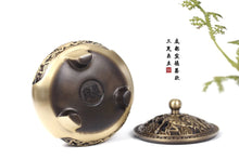 Load image into Gallery viewer, Three-legged Copper Incense Burner 麒麟雕龙三足铜炉
