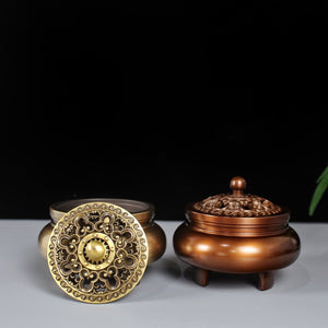 Copper Large Incense Burner 纯铜大号铜炉