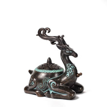 Load image into Gallery viewer, Antique Deer Incense Burner 仿古鹿盘香炉