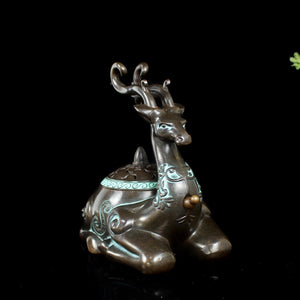 Antique Deer Incense Burner 仿古鹿盘香炉