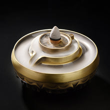Load image into Gallery viewer, The Fortune Wheel Backflow Incense Burner 合金八吉祥时来运转多用香炉