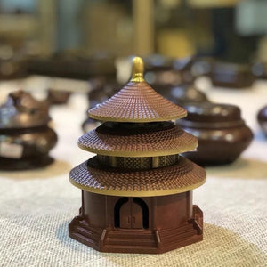 Pure Copper Incense Burner - Temple of Heaven 纯铜烧色天坛香炉