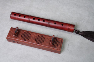 Classical Chinese Flute Music Incense Burner  红木笛子音乐香器
