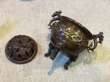Load image into Gallery viewer, Antique Pixiu Incense Burner  三祥兽足铜炉