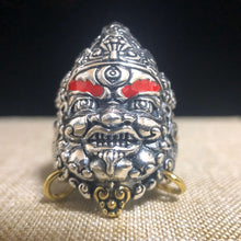 Load image into Gallery viewer, Yellow Jambhala Silver Ring 足银黄财神银戒