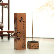 Load image into Gallery viewer, Hollow The Heart Sutra Incense Burner 合金立式短款线香炉