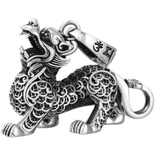 Load image into Gallery viewer, Silver Pixiu Pendant 足银招财貔貅吊坠