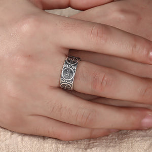 """Wealth and Prosperity"" Silver Ring 招财进宝心经银戒"