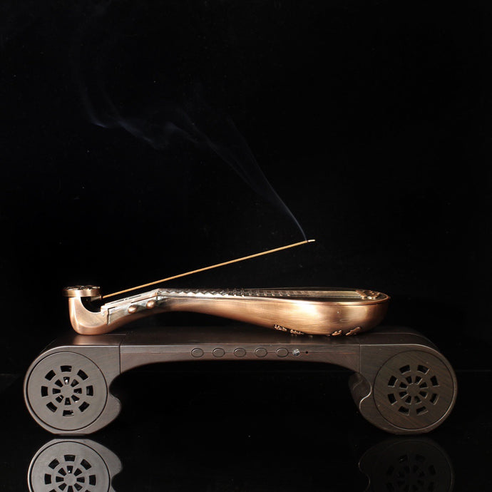 Classical Lute Incense Sticks Burner with Bluetooth Speaker 琵琶机