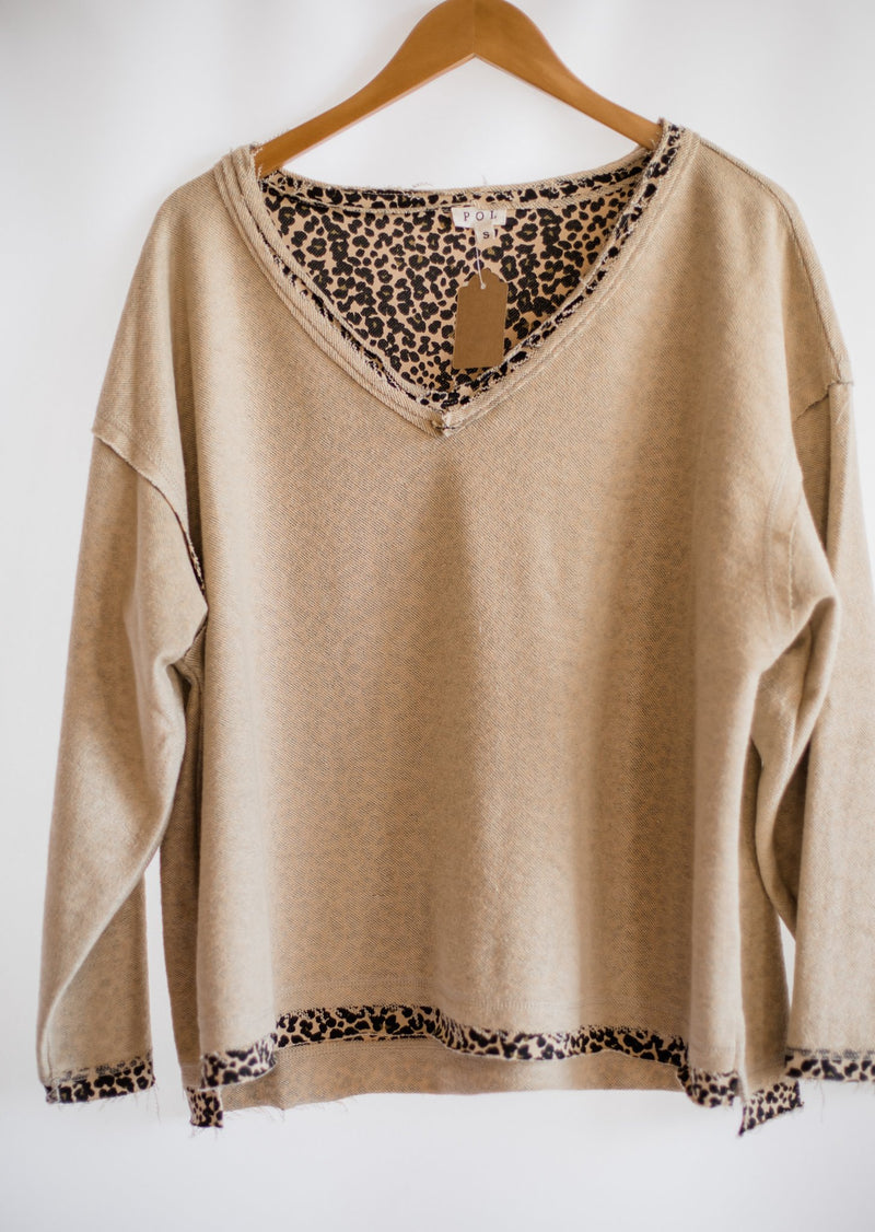 Cheetah Girl Reversible Pullover