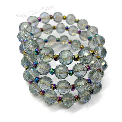 Simply Crystal Clear Wrap Bracelet