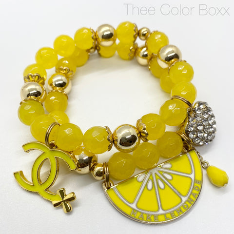 Make Designer Lemonade Beaded Bracelet Set