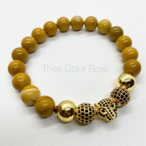 Gold Cheetah Men's Bracelet