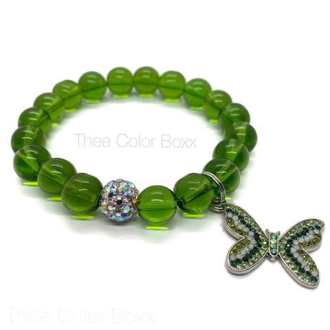 Green Butterfly Single Bracelet