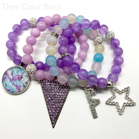 """Be An Unicorn"" Bracelet Set"
