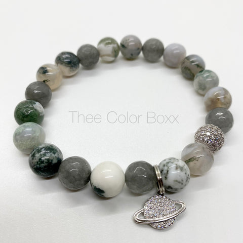 Spaced Out Agate Men's Bracelet