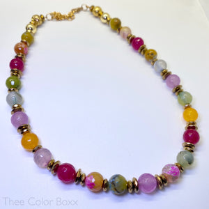 Multicolor Gemstone Necklace