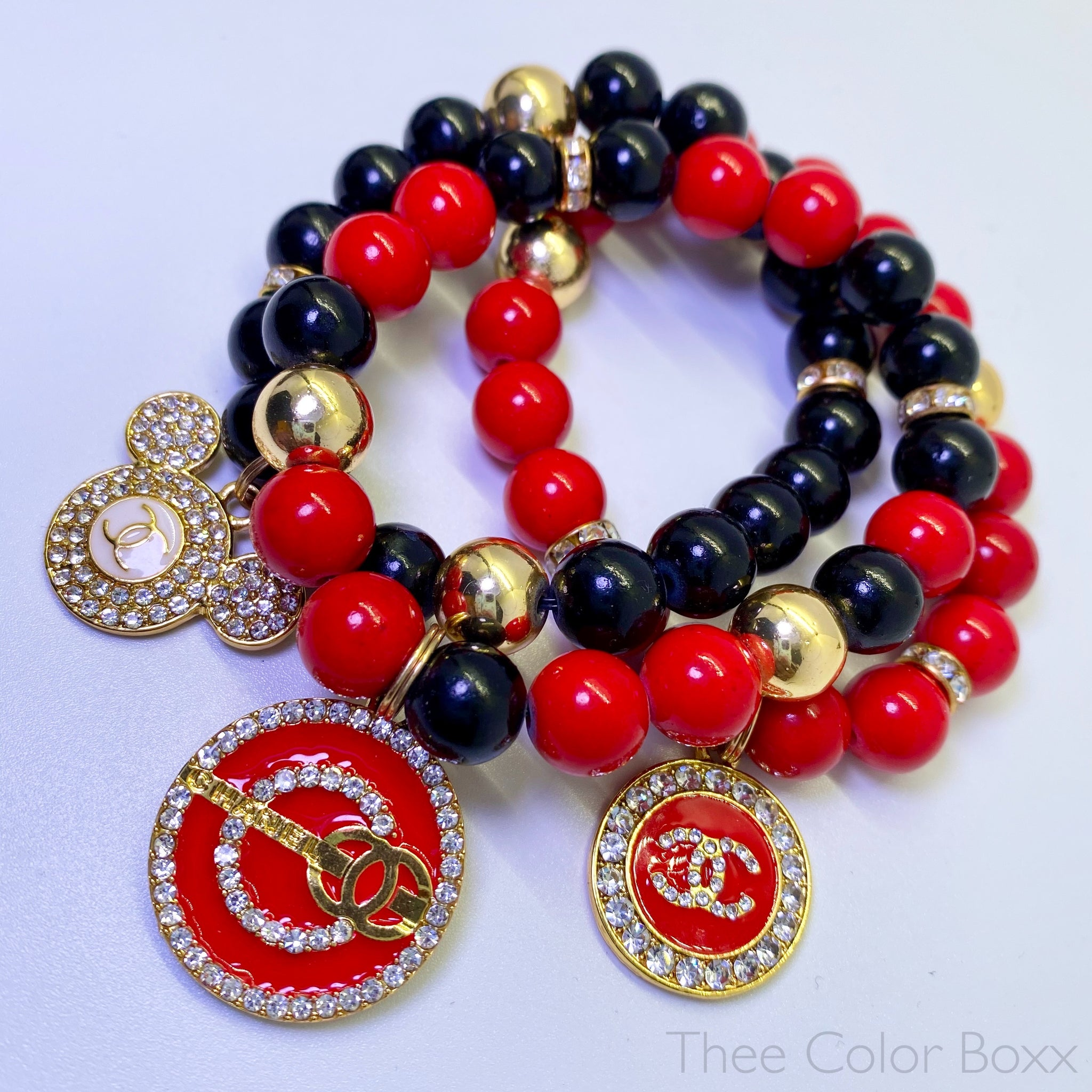 Mickey Chanel Bracelet Set
