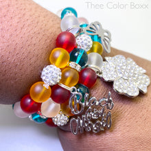 Load image into Gallery viewer, Colorful Black Girl Magic Bracelet Set