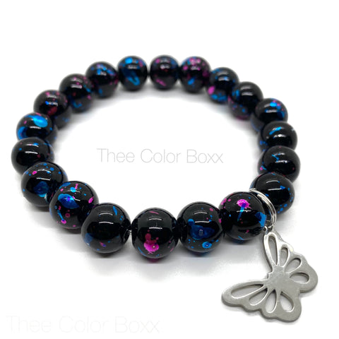 Black Butterfly Single Bracelet