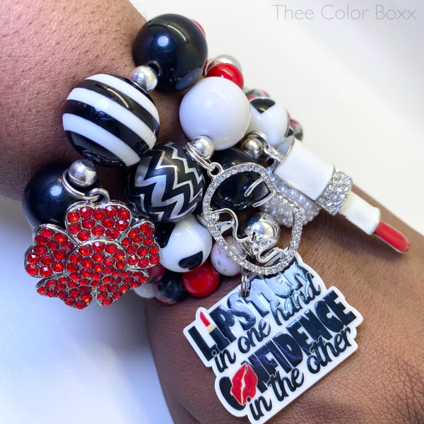 Lipstick of Confidence Bracelet Set