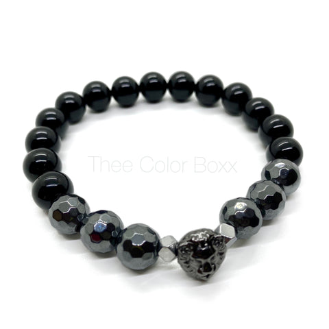 Gunmetal Lion Men's Bracelet