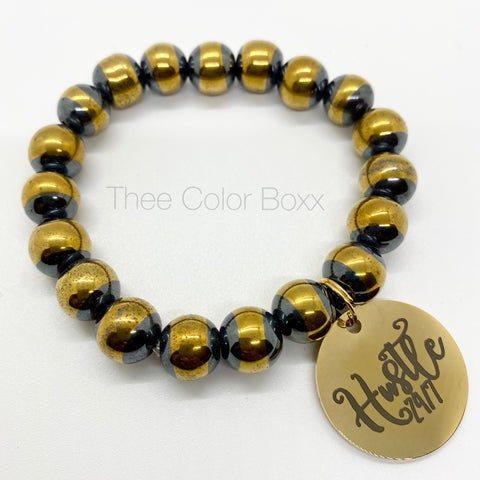 Hustle 24/7 Beaded Bracelet