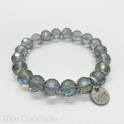 Crystal Clear Love Single Bracelet