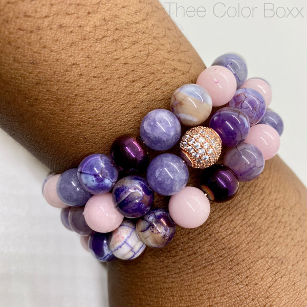 Purple and Pink Crush Wrap Bracelet