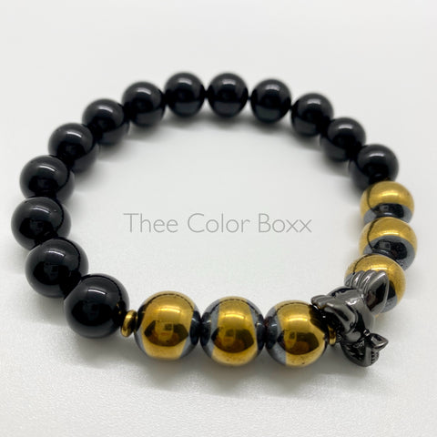 Gunmetal Elephant Men's Bracelet