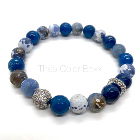 Blue CZ Men's Bracelet