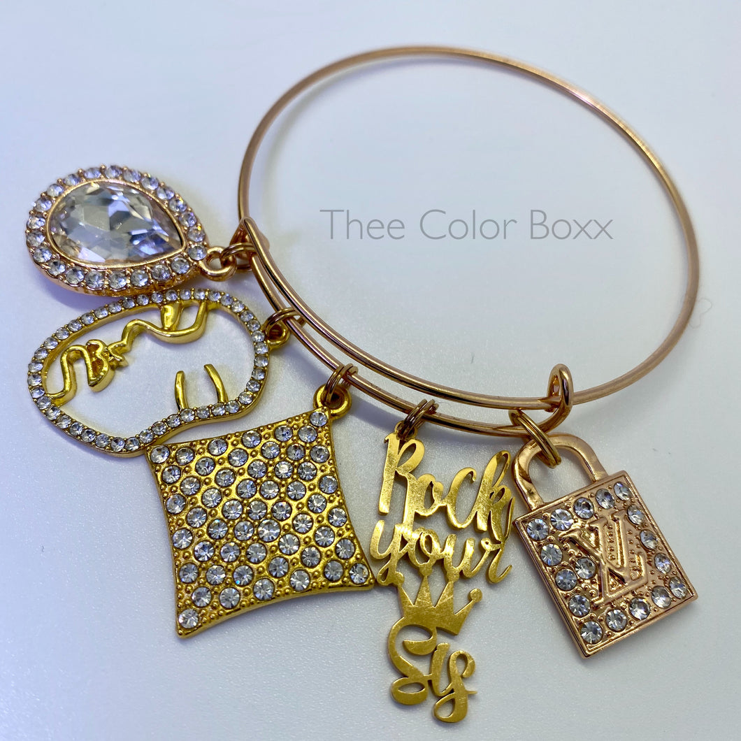 Rock Your Crown Bangle
