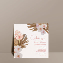 floral bridal shower card