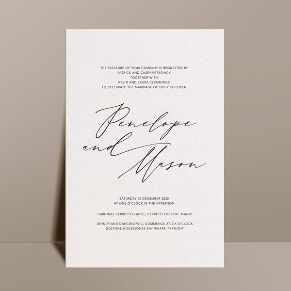 Calligrafia Wedding Invitation