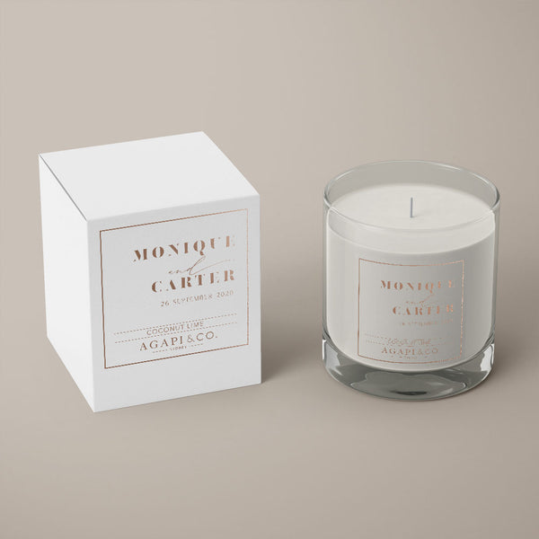 Clarity Soy Candle Wedding Favour