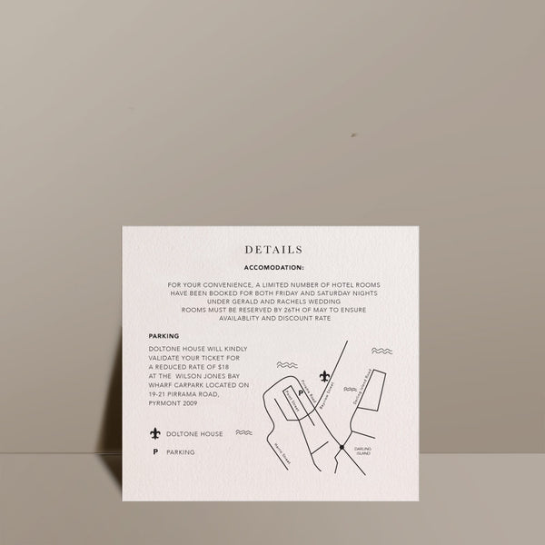 square information card