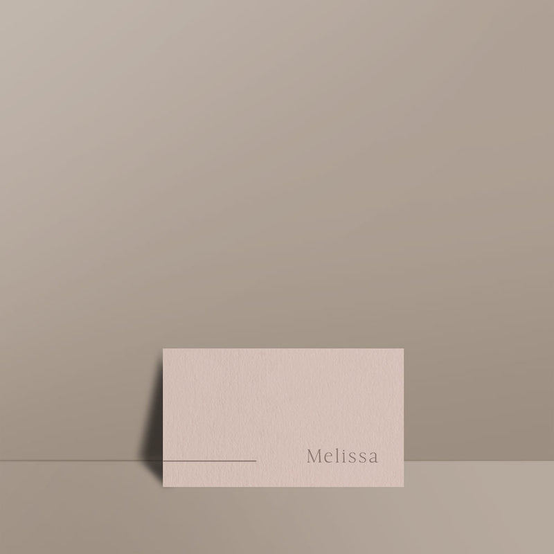 almond place card
