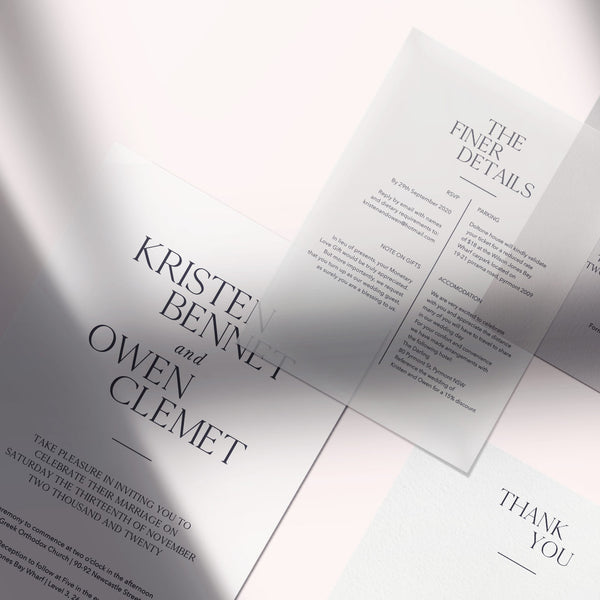 modern statement wedding invitation suite
