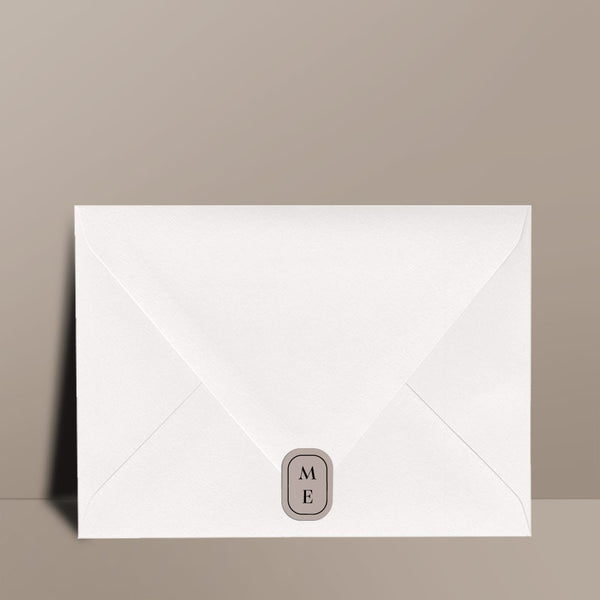grey adhesive envelope seal