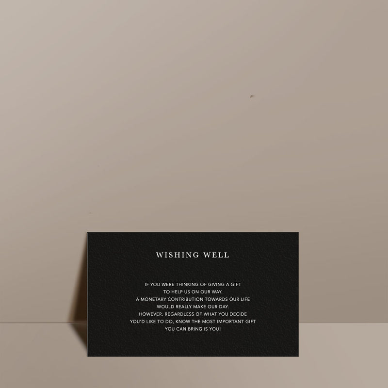 black wishing well card